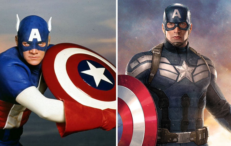 #14 Captain America 1990 And 2016