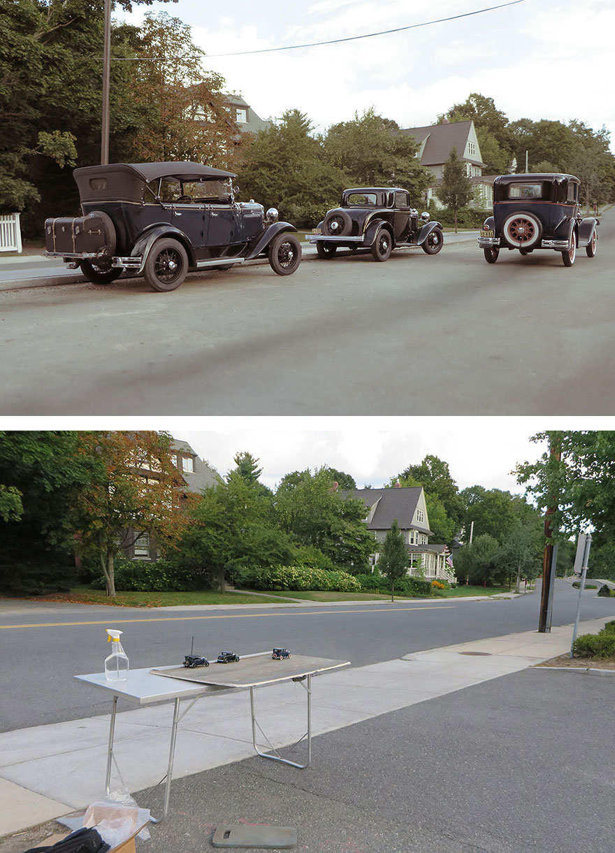 #1 Miniature Car Models Create Realistic Historical Photos