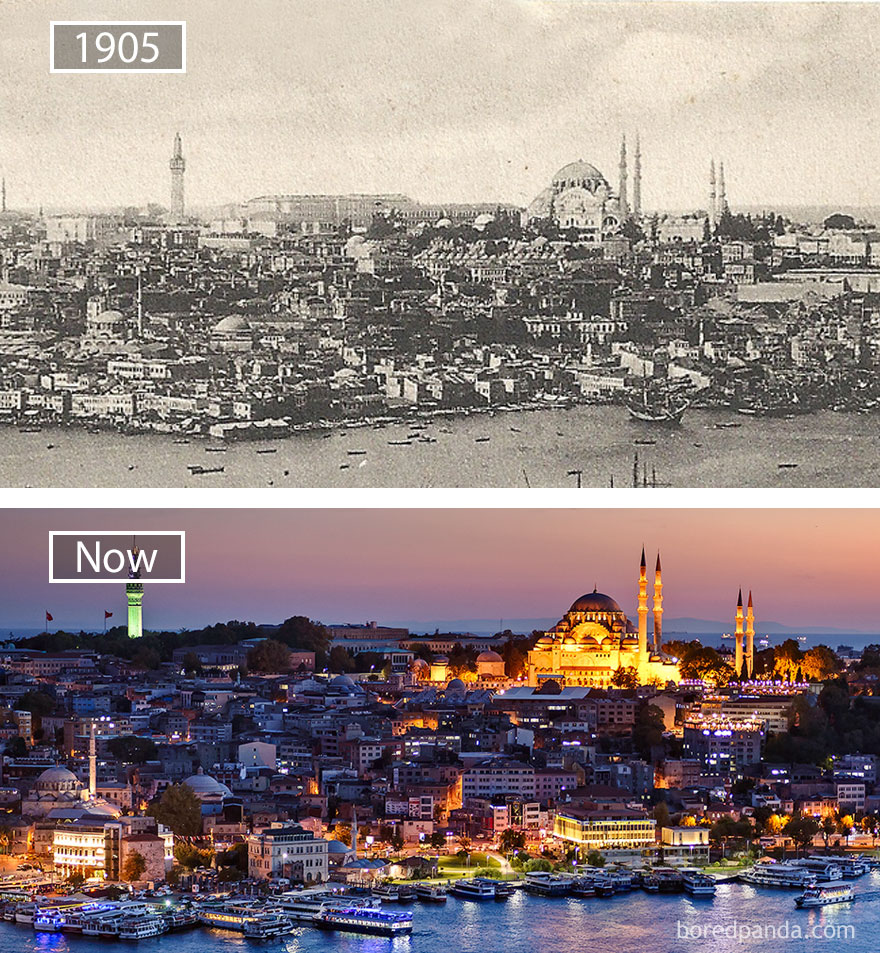 #16 Istanbul, Turkey - 1905 And Now
