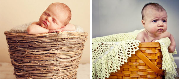 #17 Cute Baby In A Basket. Nailed It