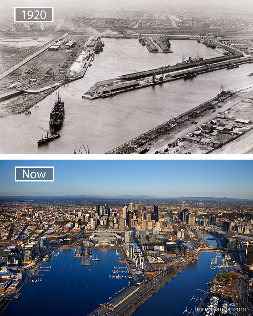 #18 Melbourne, Australia - 1920 And Now
