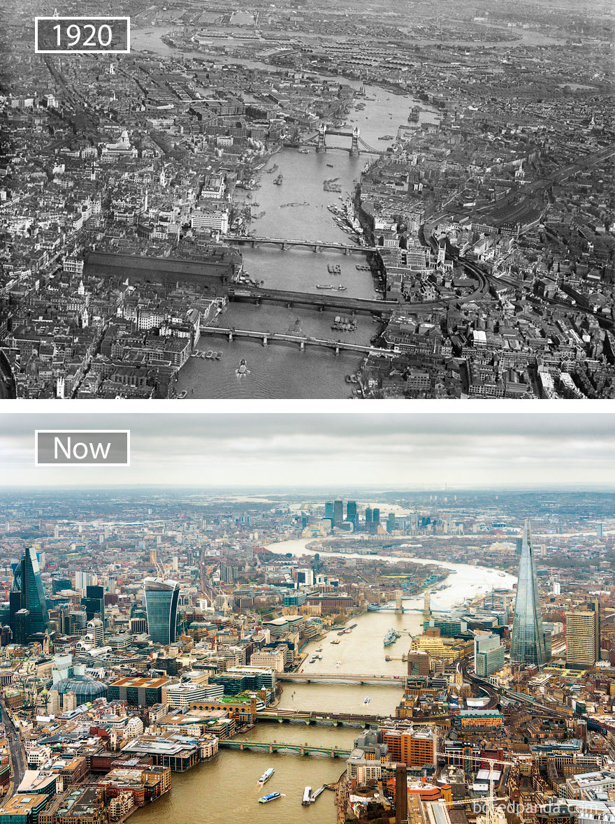 #19 London, The Great Britain - 1920 And Now