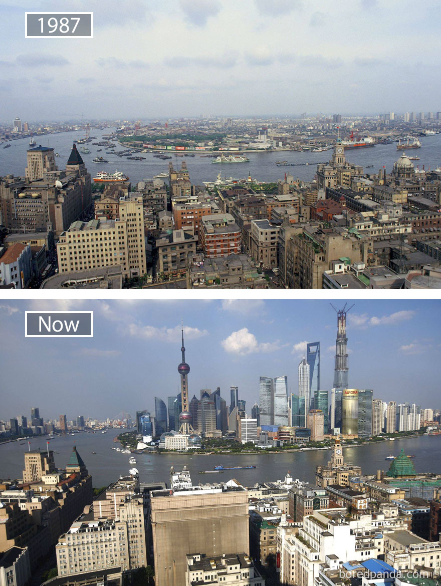 #20 Shanghai, China - 1987 And Now