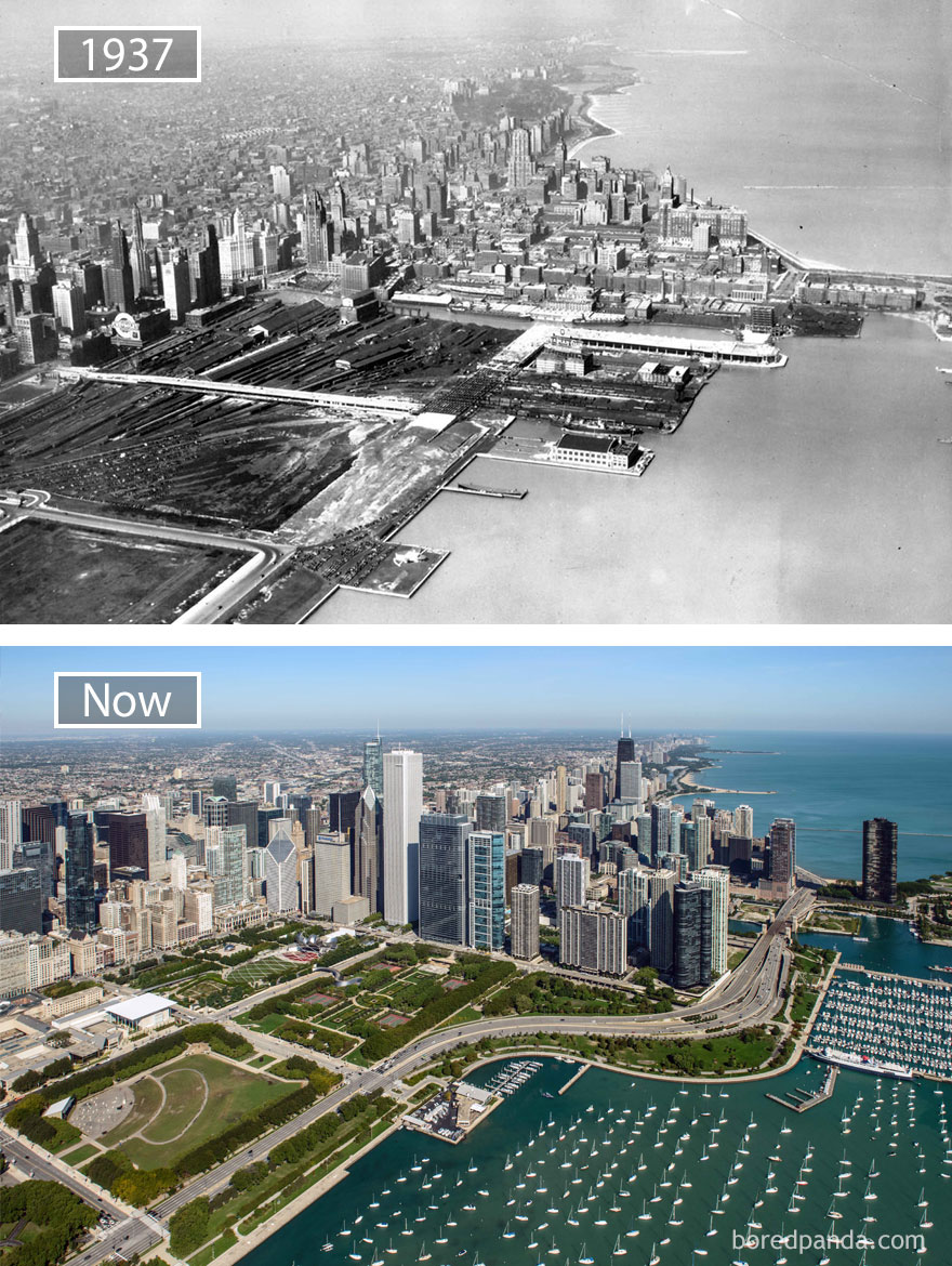 #21 Chicago, Usa 1937 And Now