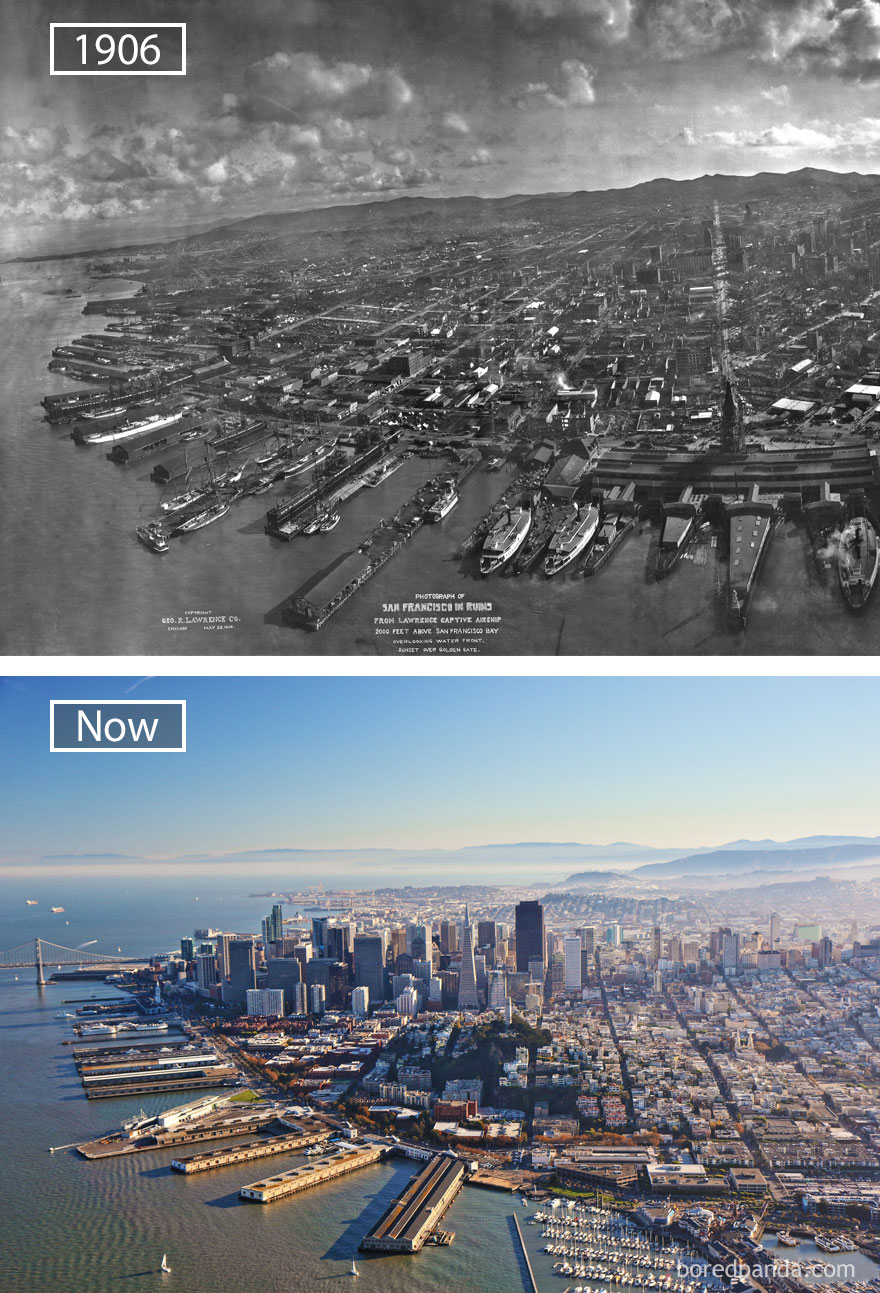 #25 San Francisco, USA - 1906 And Now