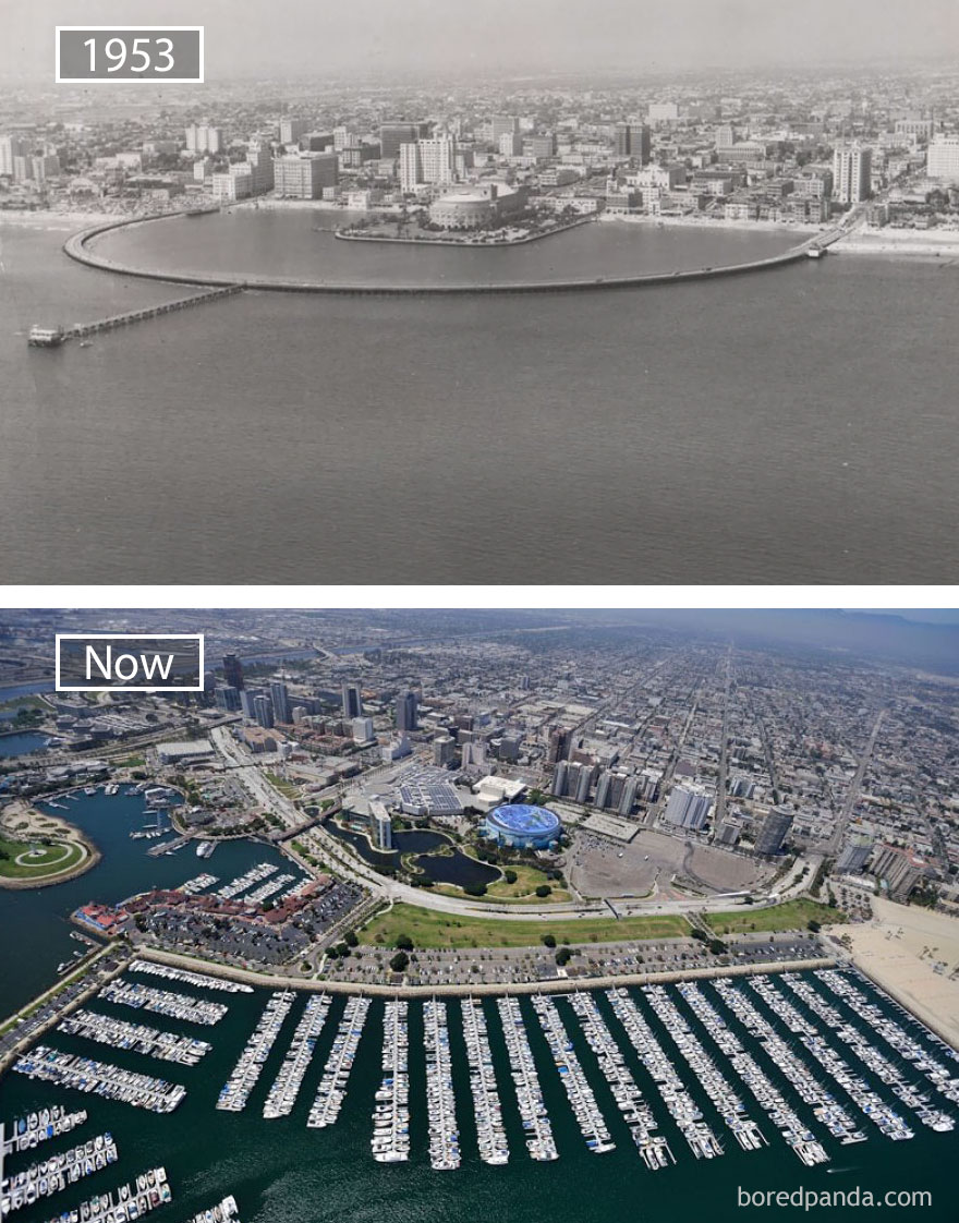 #27 Long Beach, Usa - 1953 And Now