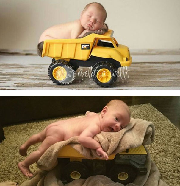 #4 Sweet Baby In A Toy Truck. Nailed It