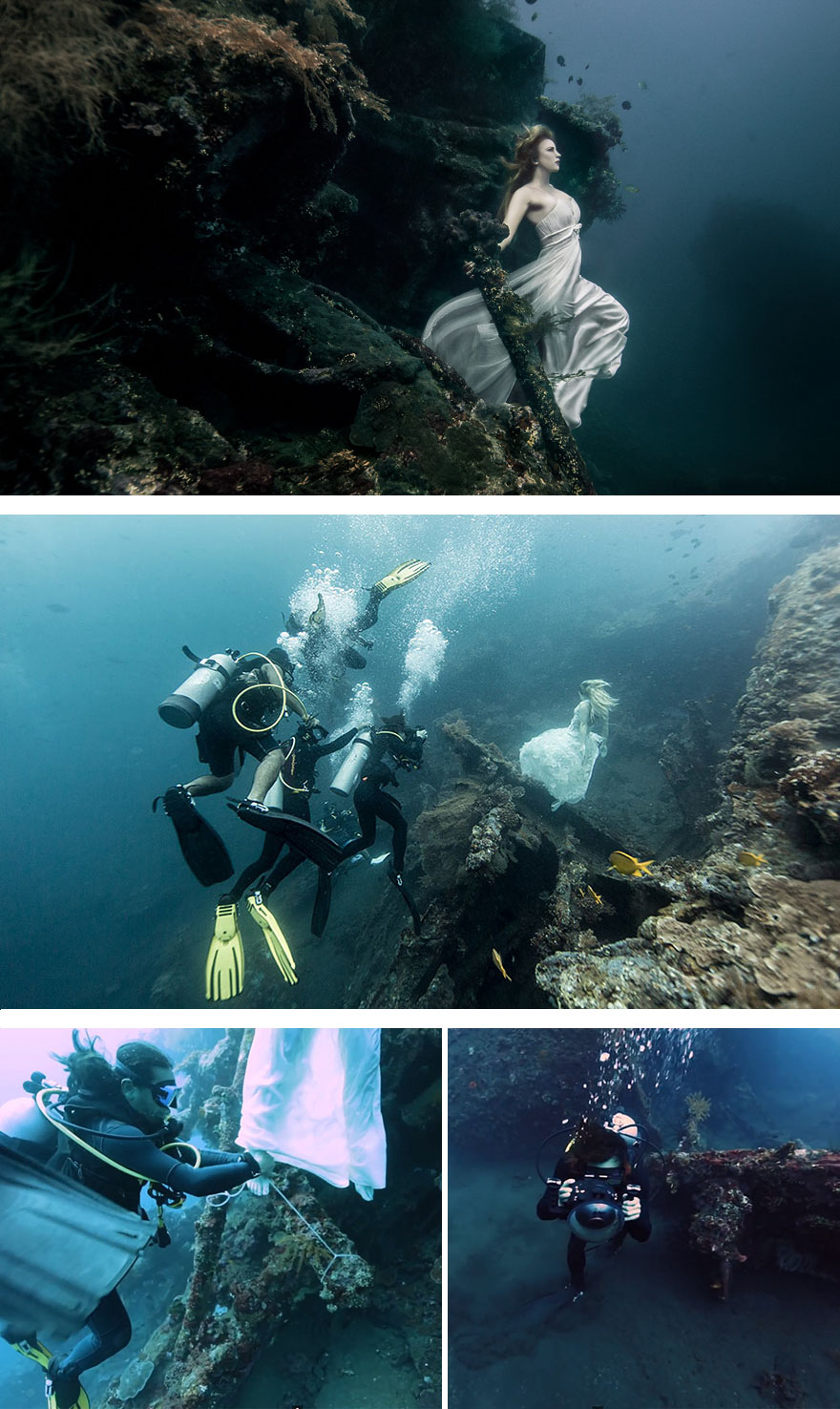 #8 Photoshoot 25m Under The Sea In A Sunken Shipwreck