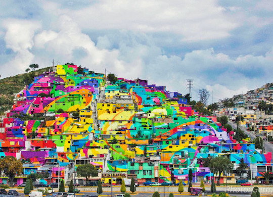 Mexican rainbow art
